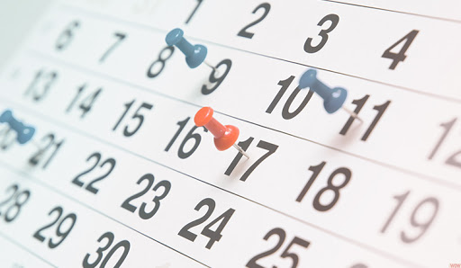 Calendários para organização de datas de medidas do governo federal